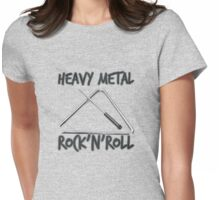 Heavy Metal Rock & Roll Womens Fitted T-Shirt