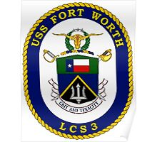 LCS-3 USS Ft. Worth Poster