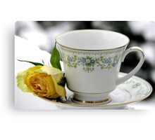 A Winter Tea Canvas Print