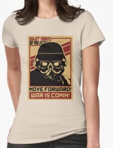 TROOP - WAR IS COMING Womens Fitted T-Shirt