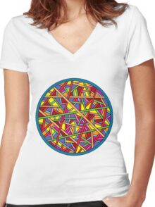 Color Women's Fitted V-Neck T-Shirt