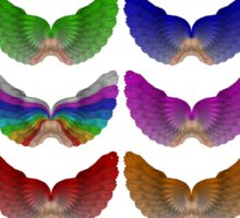 Colorful Foot Wings Sticker