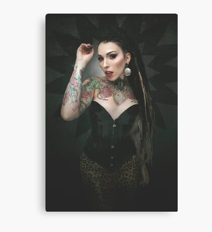leopard queen Canvas Print
