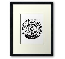 THE WORLD CHESS CHAMPIONSHIP 1972 Framed Print