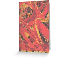 Fruit and Seeds Red/Yellow Greeting Card