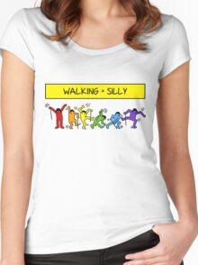 Pop Shop Silly Walks Women's Fitted Scoop T-Shirt