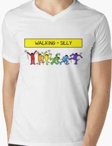 Pop Shop Silly Walks Mens V-Neck T-Shirt