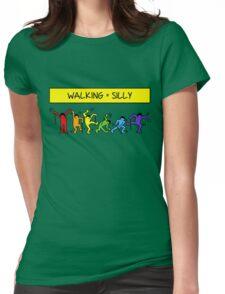 Pop Shop Silly Walks Womens Fitted T-Shirt
