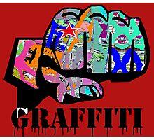 Graffiti covered fist Photographic Print