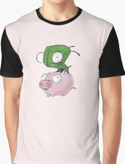 Gir and Piggy Graphic T-Shirt