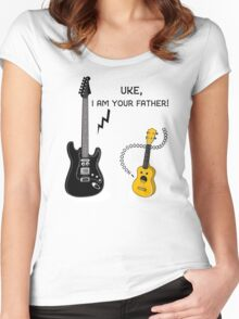 Uke, I am your Father! Women's Fitted Scoop T-Shirt