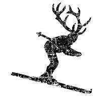Ski Stag Vintage Black (Skier) by theshirtshops
