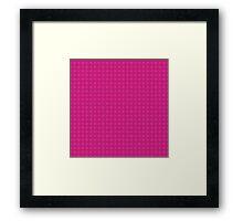 Geometric blue  pattern Framed Print