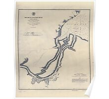 Civil War Maps 1177 Mouths of Roanoke River North Carolina Poster