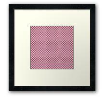 Geometric pink pattern Framed Print