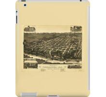 Perspective Map of Tuskaloosa Alabama (1887) iPad Case/Skin