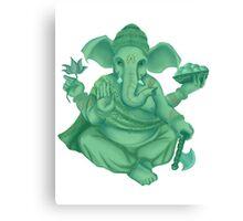 Green Ganesh Canvas Print