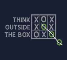 Think Outside the Box (White) Kids Tee