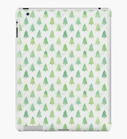 Simple Pine Tree Forest Pattern iPad Case/Skin