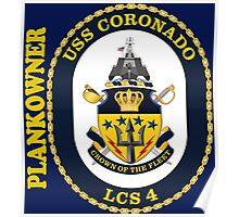 LCS-4 USS Coronado Plankowner for Dark Poster