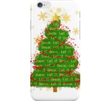 Let It Snow Christmas Tree word art iPhone Case/Skin