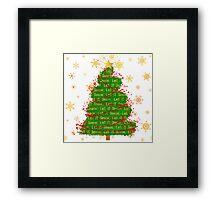 Let It Snow Christmas Tree word art Framed Print