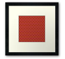 Geometric brown abstract pattern Framed Print