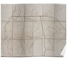 Civil War Maps 0923 Map of the Military Division of the West Genl GT Beauregard comdg Hd Qrs Engrs Office Dept Miss Ala c Poster