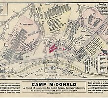 Civil War Maps 0217 Camp McDonald a school of Instruction for the 4th Brigade Georgia Volunteers by wetdryvac