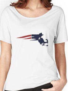 New England Patriots Massachusetts Logo Women's Relaxed Fit T-Shirt