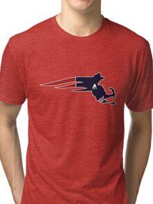 New England Patriots Massachusetts Logo Tri-blend T-Shirt