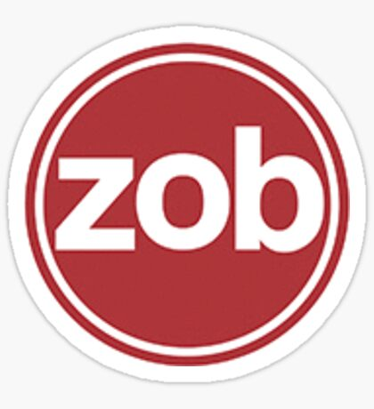 Zob Glass Sticker (Maroon) Sticker