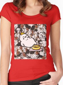 Neko Atsume - King Tubbs  Women's Fitted Scoop T-Shirt