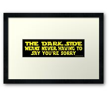 Dark Truth Framed Print