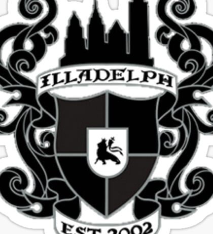 Illadelph Crest Sticker (Blacked Out) Sticker