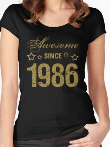 Awesome Since 1986 Women's Fitted Scoop T-Shirt
