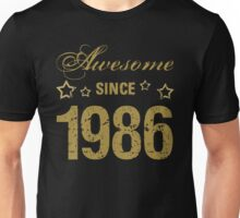 Awesome Since 1986 Unisex T-Shirt