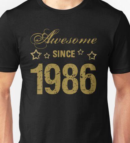 Awesome Since 1986 Unisex T-Shirt