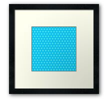 Blue abstract pattern Framed Print