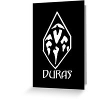 House of Duras Emblem (White) Greeting Card
