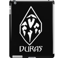 House of Duras Emblem (White) iPad Case/Skin