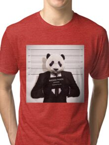 Funny Badass Panda Tri-blend T-Shirt