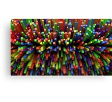 Abstract Cube Array - Mixed Colors Canvas Print