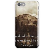 """Psalm 3:4"" by Carter L. Shepard iPhone Case/Skin"