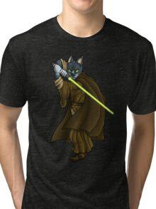 Cat Jedi (New) Tri-blend T-Shirt