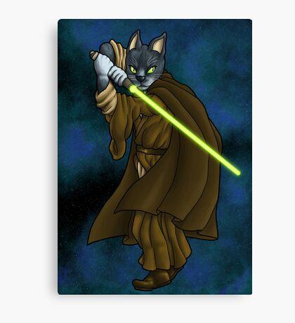 Cat Jedi (New) Canvas Print