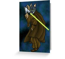 Cat Jedi (New) Greeting Card