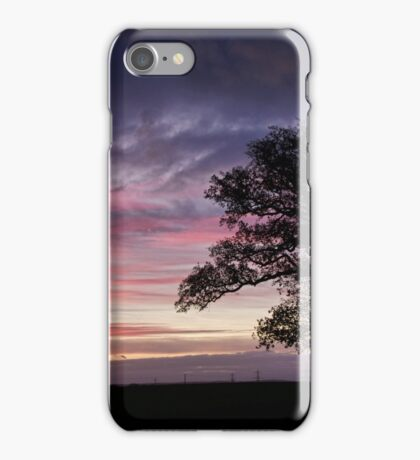 Tree at sunrise in Devon iPhone Case/Skin