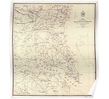 Civil War Maps 1439 Portion of the Military department of Washington embraching lower counties of Maryland Poster