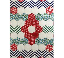 Vintage Hexagon Patchwork by Jackie Wills Photographic Print